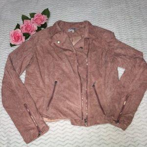Charlotte Russe light pink velvet jacket